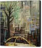 Fast City II Canvas Print by Janel Bragg