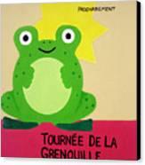 Fat Frog Best Canvas Print by Oliver Johnston