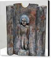 Female Figurine - Goddess Worship - Matrone - Matrones -matronen - Matrona - Diosa-nettersheim Eifel Canvas Print by Urft Valley Art