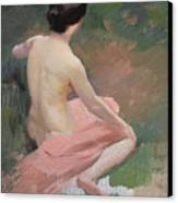 Female Nude Canvas Print by Jules Ernest Renoux