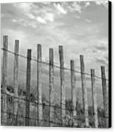 Fence At Jones Beach State Park. New York Canvas Print by Gary Koutsoubis
