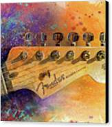 Fender Head Canvas Print by Andrew King