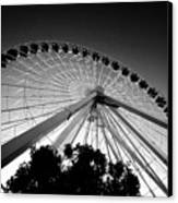 Ferris Wheel Canvas Print by Leslie Leda