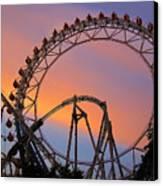 Ferris Wheel Sunset Canvas Print by Eena Bo