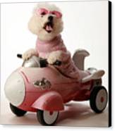 Fifi Is Ready For Take Off In Her Rocket Car Canvas Print by Michael Ledray