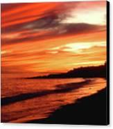 Fire In Sky Canvas Print by Joann Vitali