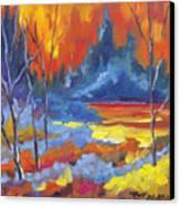 Fire Lake Canvas Print by Richard T Pranke