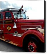 Fire Truck Selfridge Michigan Canvas Print by LeeAnn McLaneGoetz McLaneGoetzStudioLLCcom