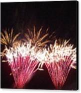 Fire Works Show Stippled Paint 7 Canada Canvas Print by Dawn Hay