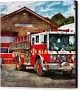 Fireman - Union Fire Company 1  Canvas Print by Mike Savad