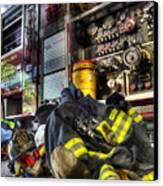 Fireman - Always Ready For Duty Canvas Print by Lee Dos Santos