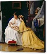 First Born Canvas Print by Gustave Leonard de Jonghe