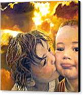 First Kiss Canvas Print by Michael Durst