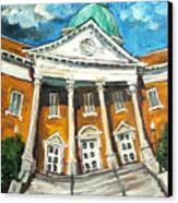 First United Methodist Church Athens Al Canvas Print by Carole Foret