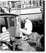 Fisherman Canvas Print by John Rizzuto