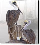 Fishing Buddies Canvas Print by Kevin Brant