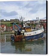 Fishing Trawler Wy 485 At Whitby Canvas Print by Rod Johnson