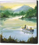 Fishing With Grandpa Canvas Print by Sean Seal