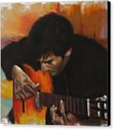 Flamenco Guitar Player Canvas Print by Harvie Brown