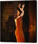 Flamenco In The Streets Canvas Print by tim Kahane