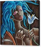 Flor Y Viento Canvas Print by Oscar Ortiz