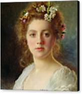Flora Canvas Print by Gustave Jacquet