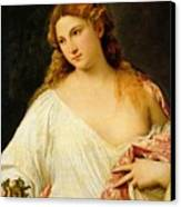 Flora Canvas Print by Titian