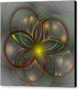 Floral Fractal 11-24-09 Canvas Print by David Lane