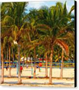 Florida Style Volleyball Canvas Print by David Lee Thompson