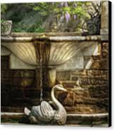 Flower - Wisteria - Fountain Canvas Print by Mike Savad