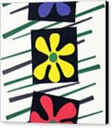 Flowers Three Canvas Print by Teddy Campagna