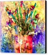 Flowery Illusion Canvas Print by Arline Wagner