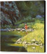 Fly Fishing Canvas Print by Billie Colson
