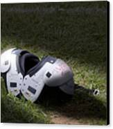 Football Shoulder Pads Canvas Print by Tom Mc Nemar