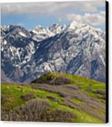 Foothills Above Salt Lake City Canvas Print by Utah Images