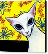 Foreign White Cat Canvas Print by Leanne Wilkes