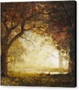 Forest Sunrise Canvas Print by Albert Bierstadt