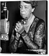 Former First Lady Eleanor Roosevelt Canvas Print by Everett