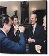 Four Presidents Nixon Reagan Ford Canvas Print by Everett