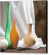 Four Vases II Canvas Print by Tom Mc Nemar