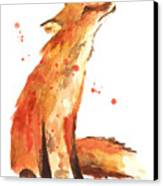 Fox Painting - Print From Original Canvas Print by Alison Fennell