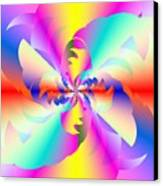 Fractal Rainbow Canvas Print by Michael Skinner