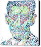 Franz Kafka Watercolor Portrait.1 Canvas Print by Fabrizio Cassetta