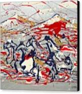 Freedom On The Open Range Canvas Print by J R Seymour