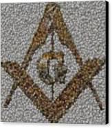 Freemason Coin Mosaic Canvas Print by Paul Van Scott