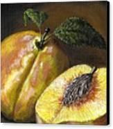 Fresh Peaches Canvas Print by Adam Zebediah Joseph