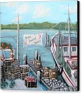 Fresh Seafood  Canvas Print by JoAnn Wheeler