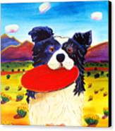 Frisbee Dog Canvas Print by Harriet Peck Taylor