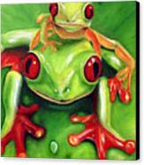 Frog Rodeo Canvas Print by Darlene Green