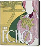 Front Cover Of The Echo Canvas Print by William Bradley